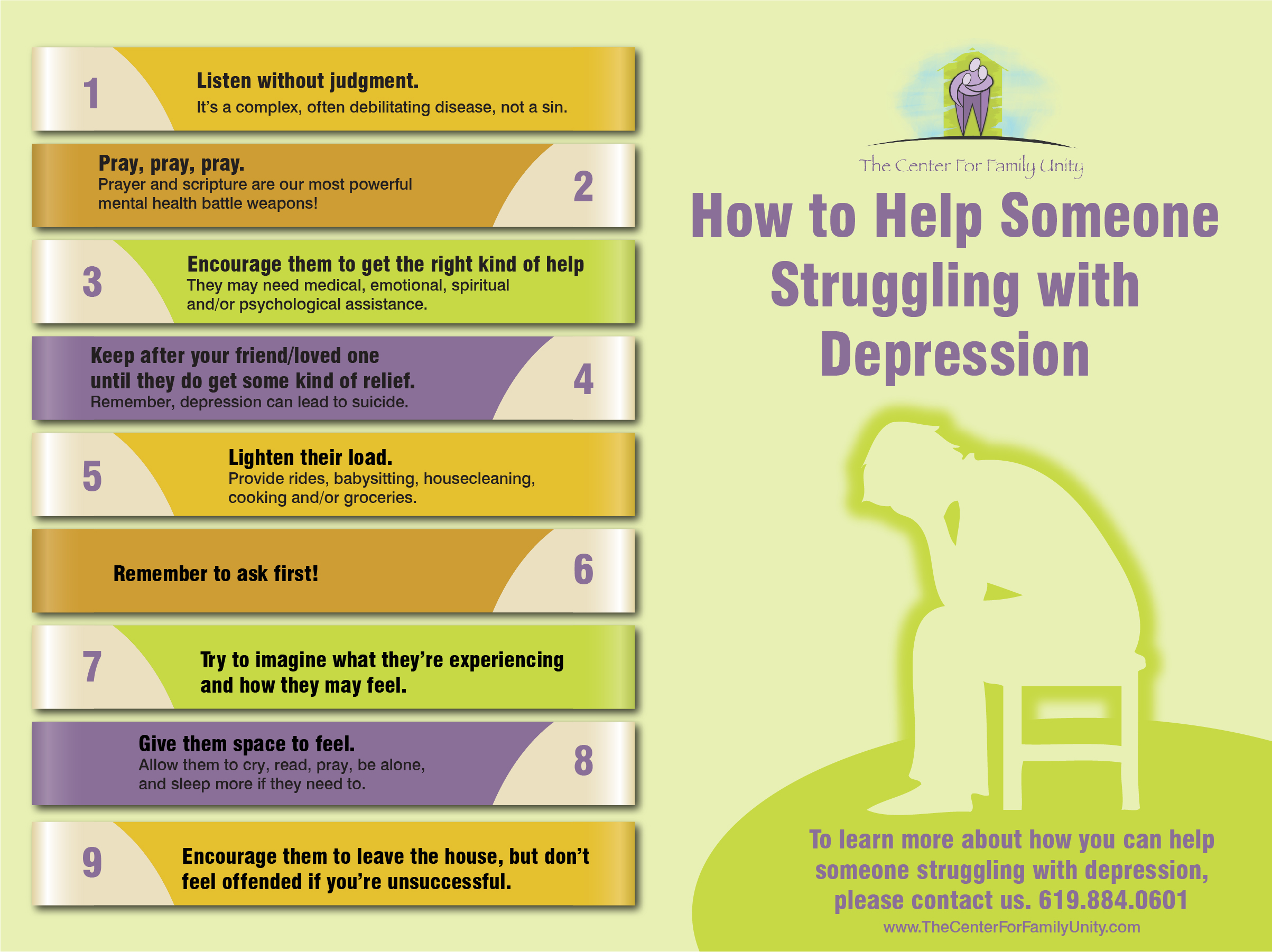 how to help someone struggling with depression | visual.ly