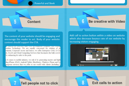 How to Improve Your Calls to Action for eCommerce Website Infographic