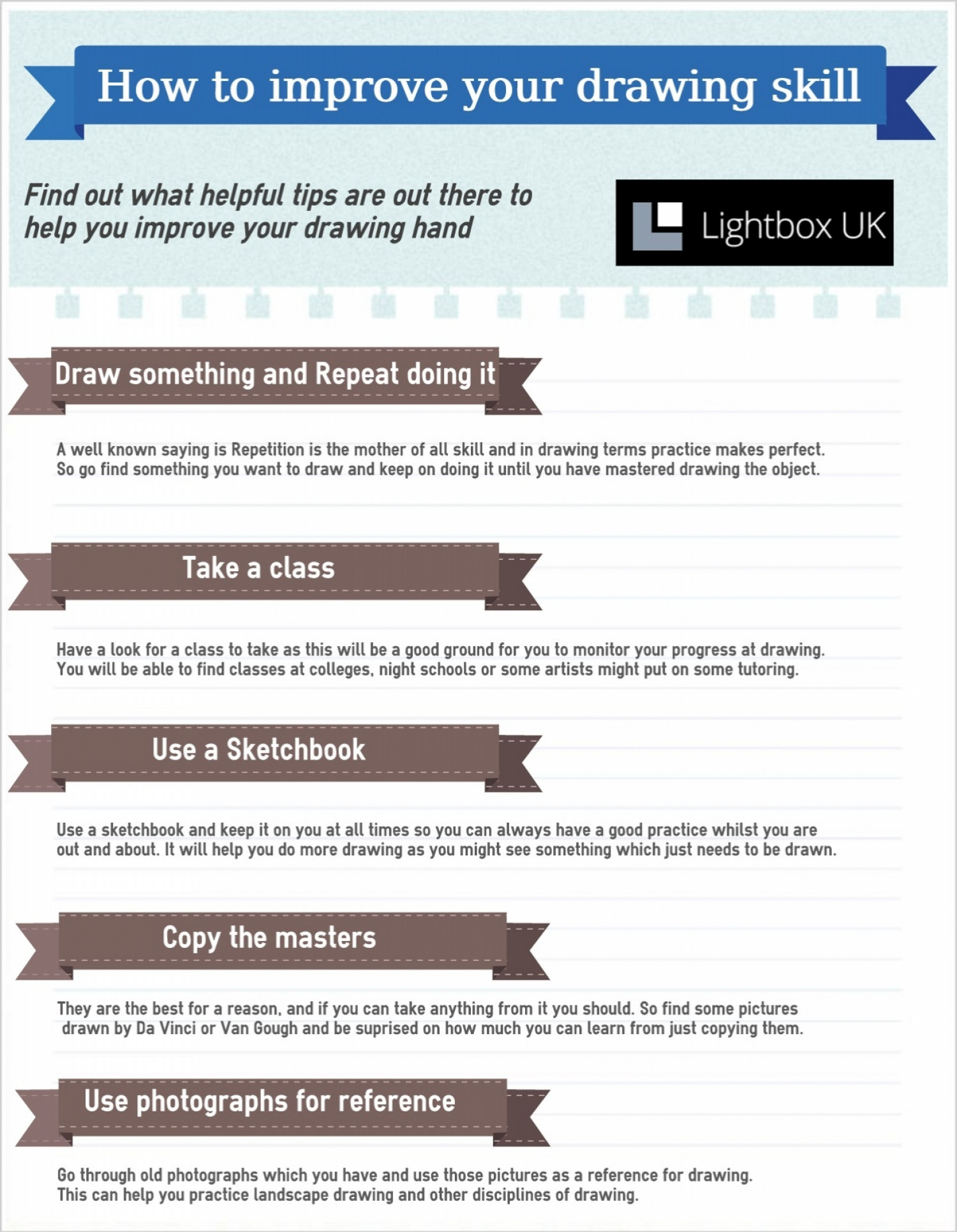 How to improve your drawing skill Infographic