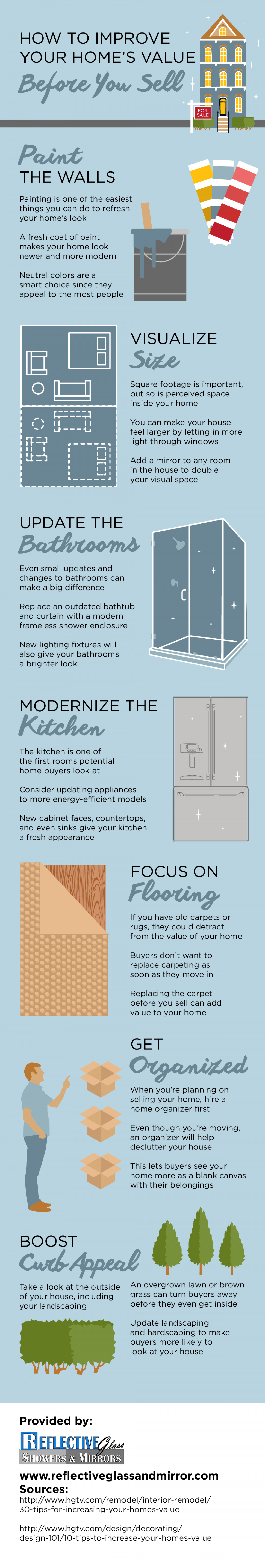 How to Improve Your Home's Value Before You Sell Infographic