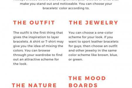 How to Incorporate Color while Layering Bracelets? Infographic