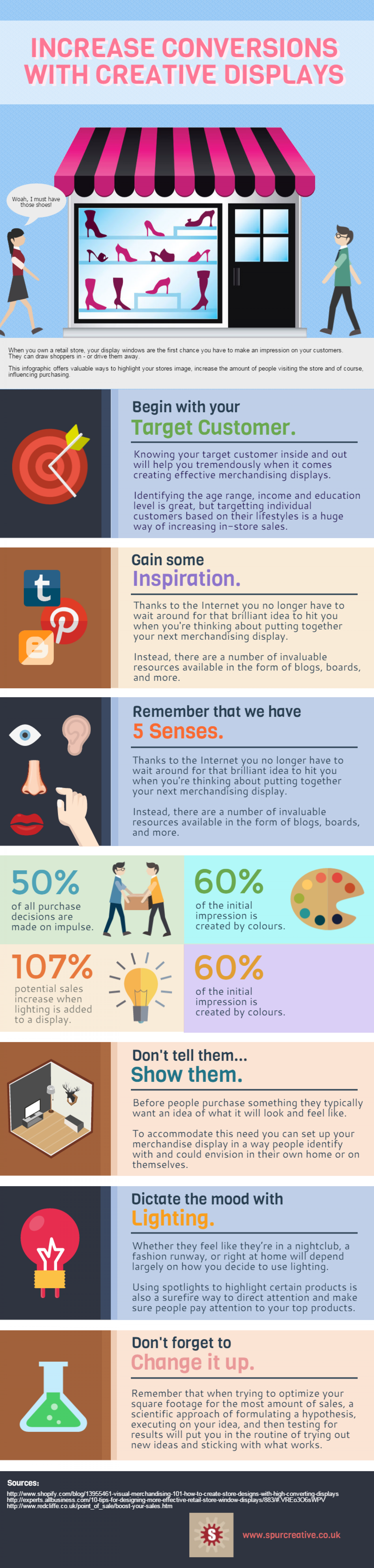 How To Increase Conversions With Creative Retail Displays Infographic