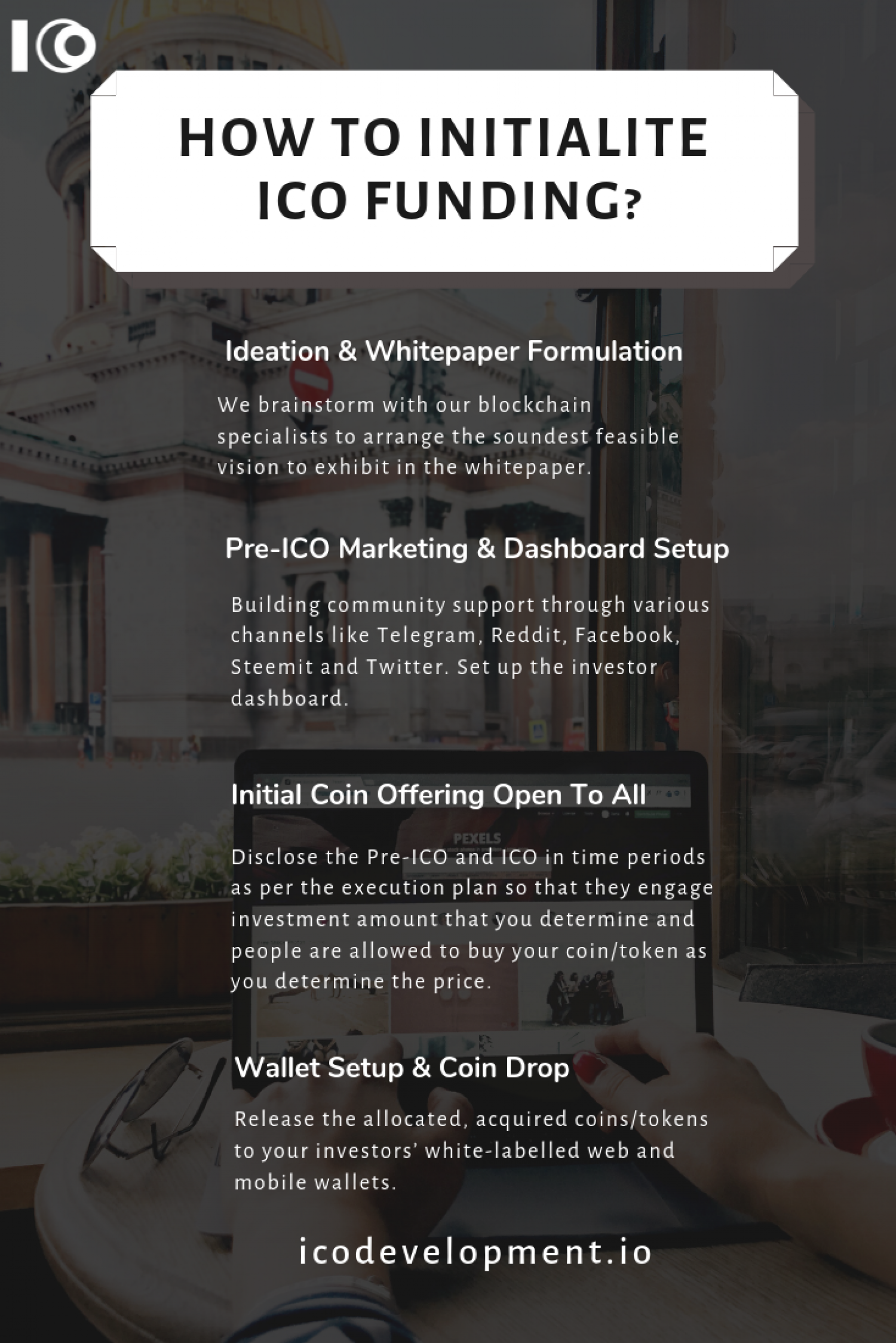How to Initialize ICO Funding? Infographic