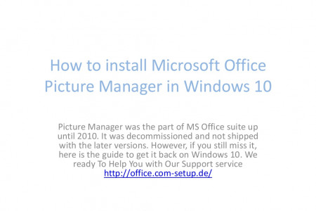 How to install Microsoft Office Picture Manager  Infographic