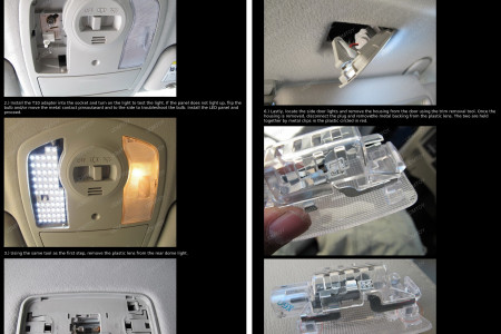 How To Install Toyota Prius LED Interior Package Infographic