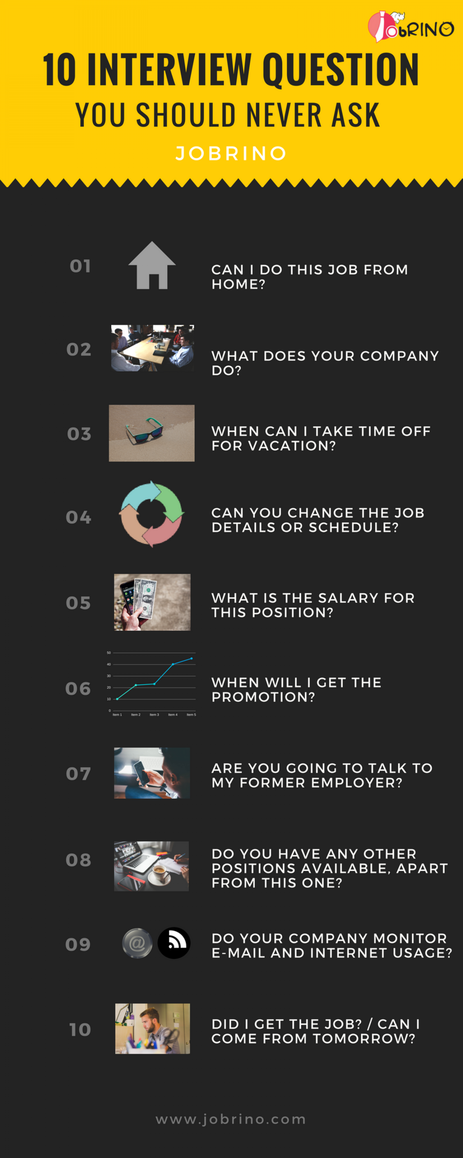 How to introduce yourself in a job interview - JobRino Infographic