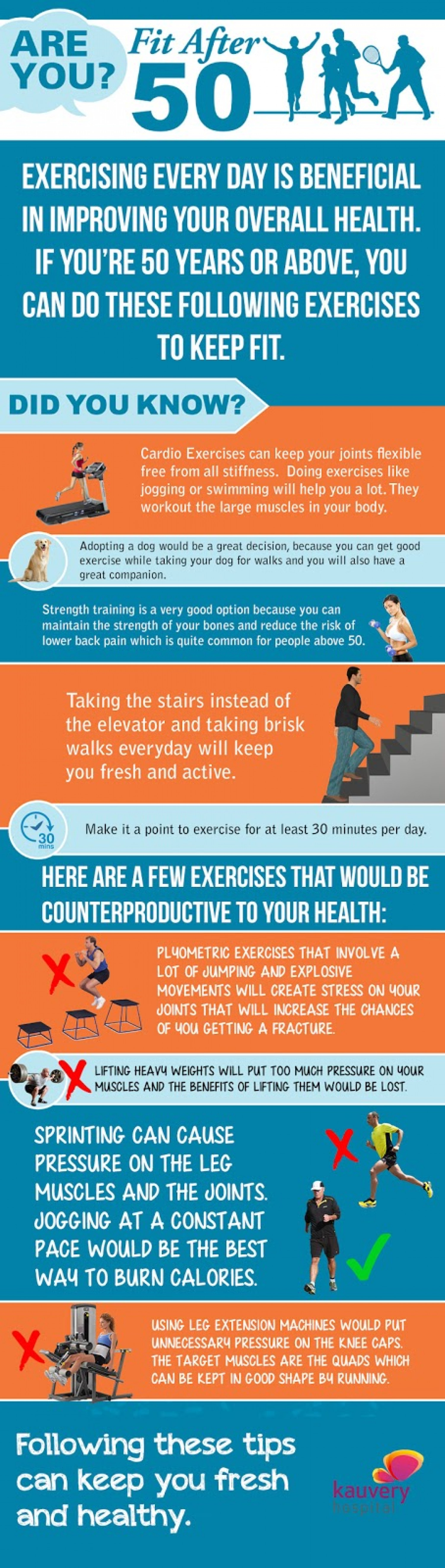 How to keep fit after 50  Infographic