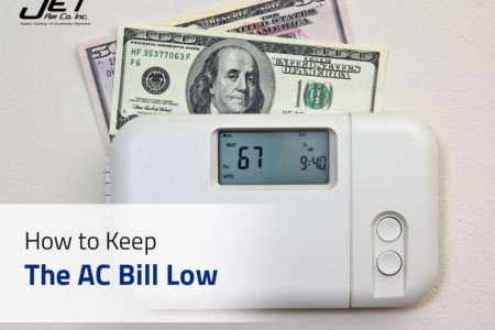 How to Keep The AC Bill Low Infographic