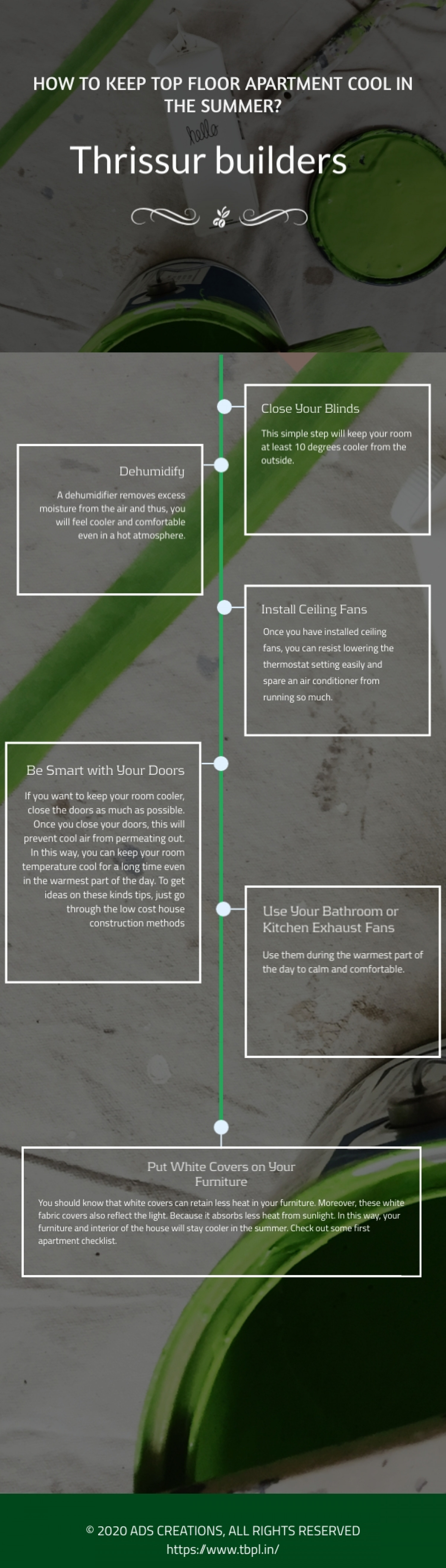HOW TO KEEP TOP FLOOR APARTMENT COOL IN THE SUMMER? Infographic