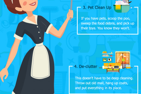 How to Keep your Home Clean With These 5 Minute Tricks Infographic