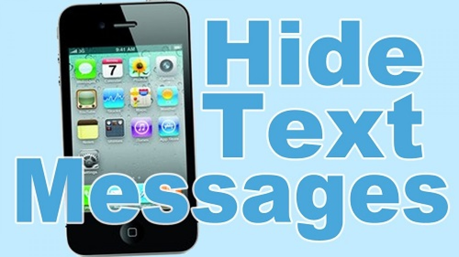 How To Keep Your iPhone Text Messages Hidden Infographic