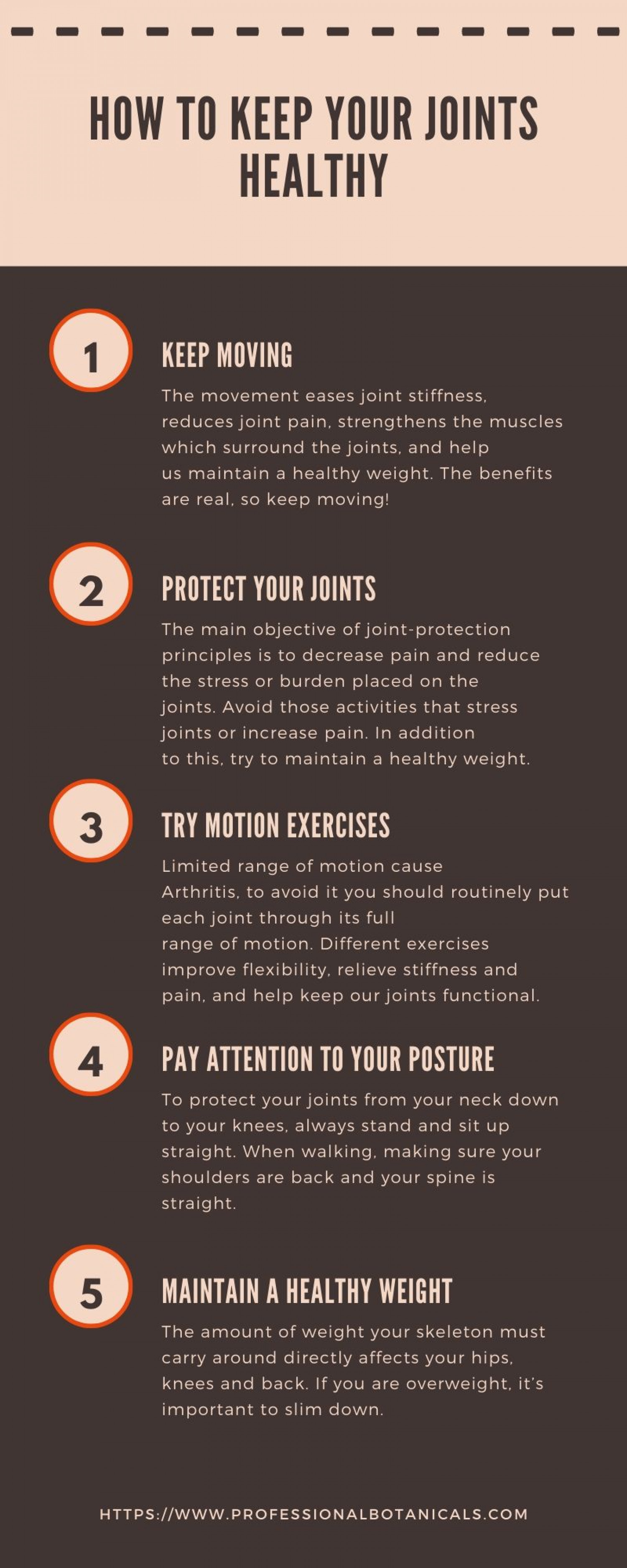 How to Keep Your Joints Healthy Infographic