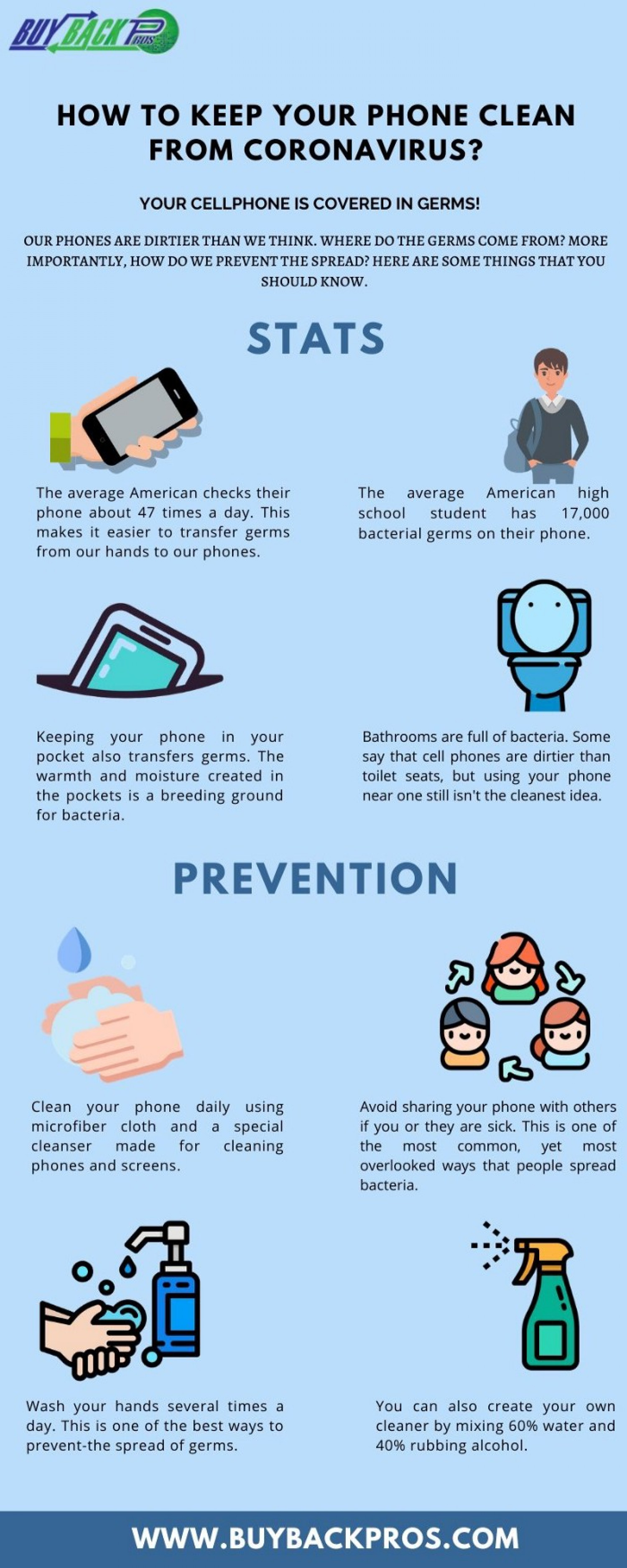How to Keep Your Phone Clean from Coronavirus? Infographic