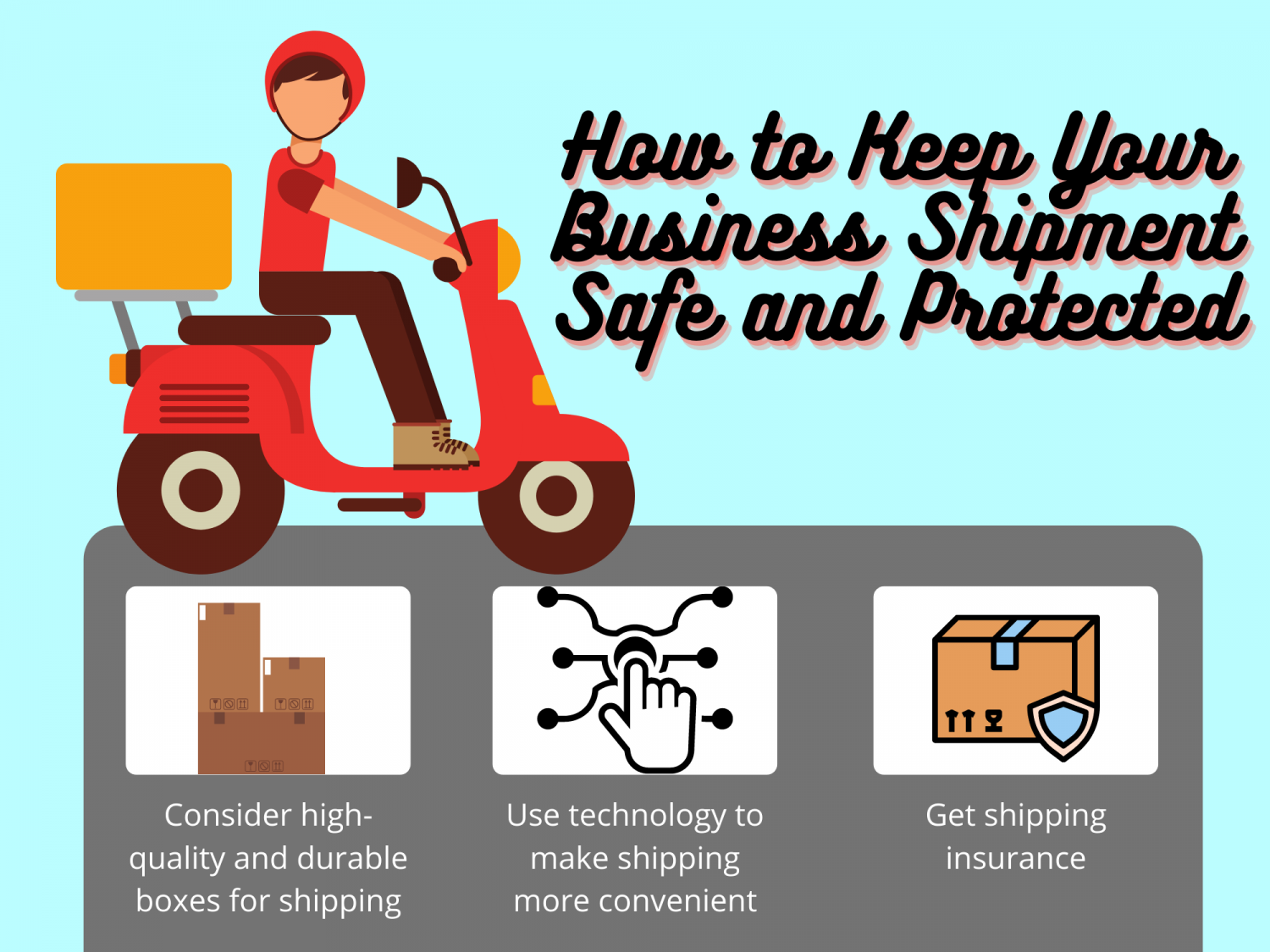 How to Keep Your Shipment More Safe & Secured Infographic