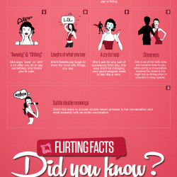 how to tell if a guy if flirting with you
