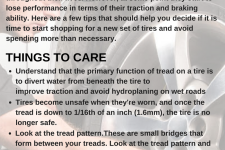 How to Know when Car Tires Need Replacing Infographic