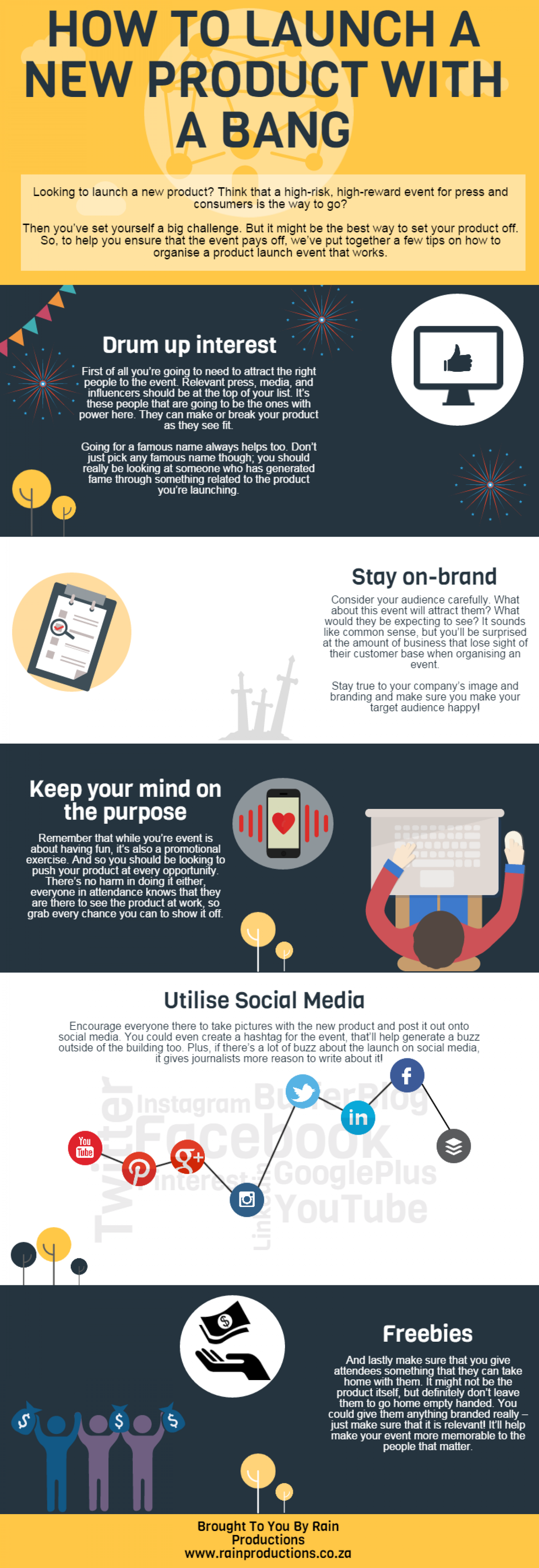 HOW TO LAUNCH A NEW PRODUCT WITH A BANG Infographic