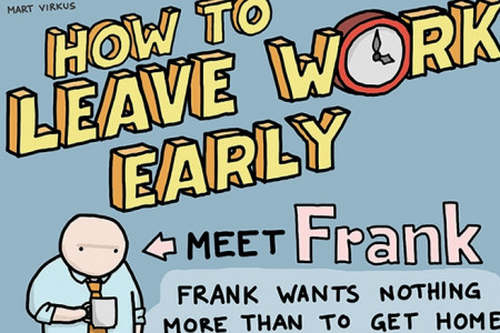 How to Leave Work Early  Infographic