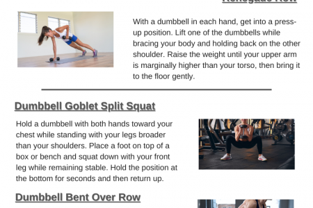 How to Lose Weight With Dumbbells Infographic