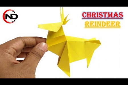 How to Make a Christmas Origami Reindeer Infographic