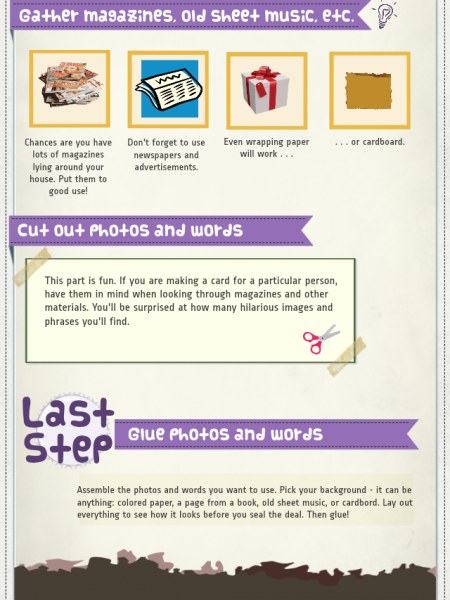 How to Make a Collage Card Infographic