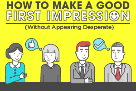 How to Make a Good First Impression (Without Appearing Desperate) Infographic