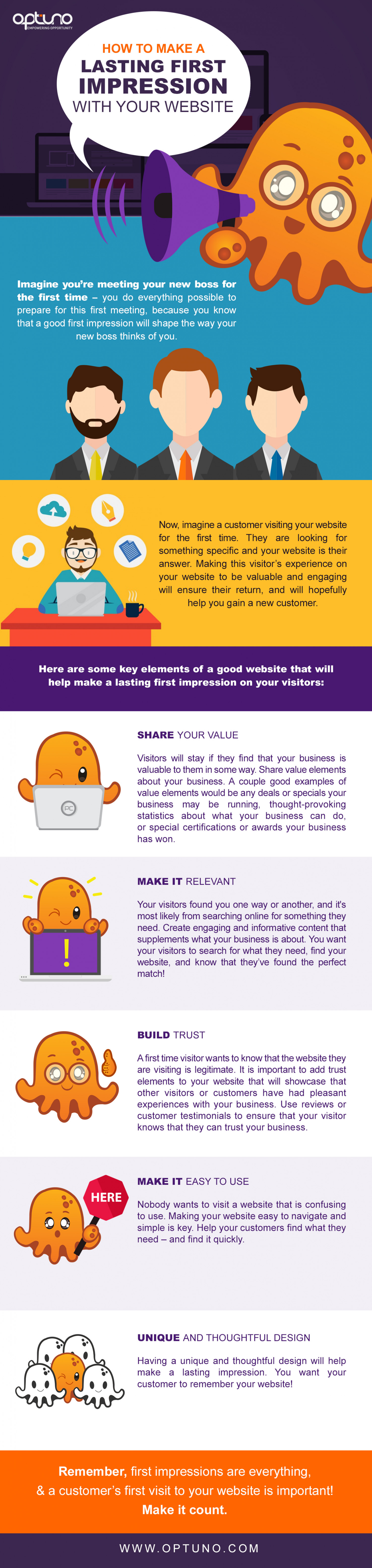 How to Make a Lasting First Impression With Your Website Infographic