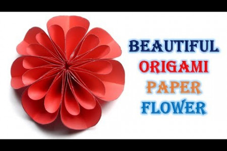 How to Make a Paper Flower | Beautiful Origami Paper Flower Infographic
