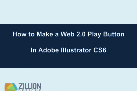 How to Make a Web 2.0 Play Button in Adobe Illustrator CS6 Infographic