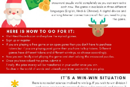 How to make Christmas happening this year with online crossword puzzles Infographic