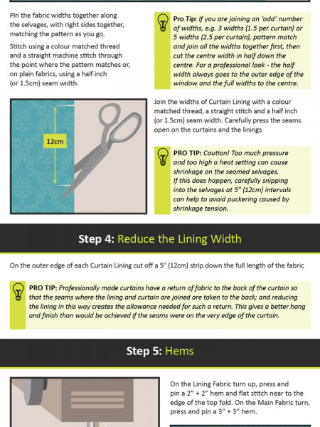 How To Make Simple Lined Curtains Infographic