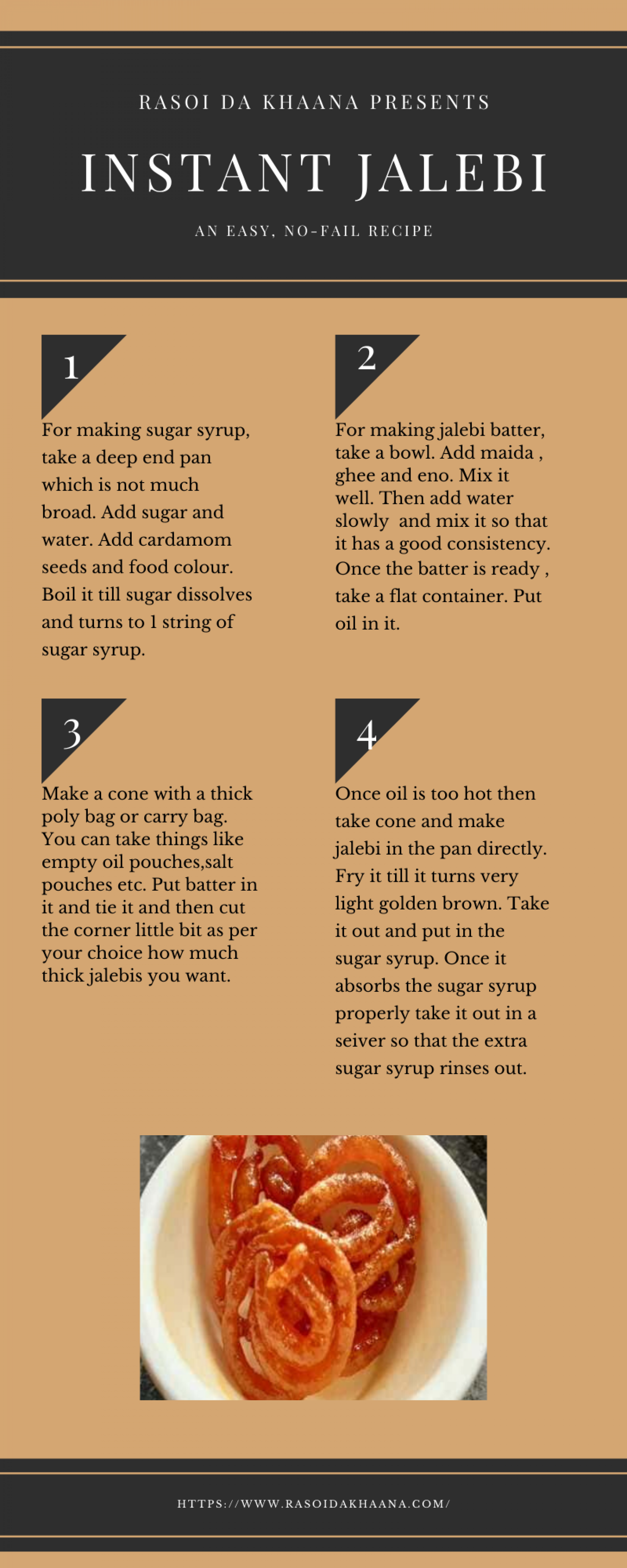 How to Make Instant Jalebi Infographic