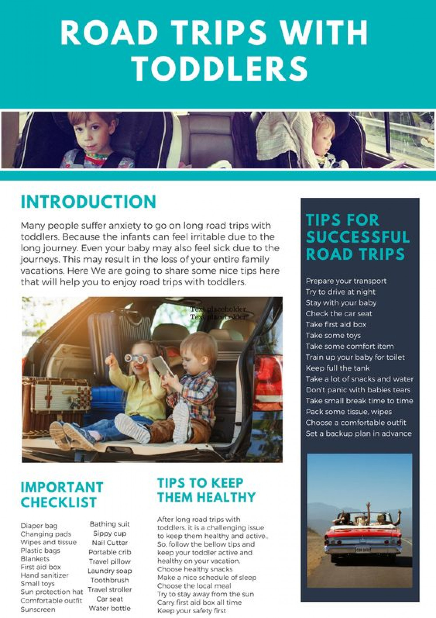 How To Make Successful Road Trips With Toddlers Infographic