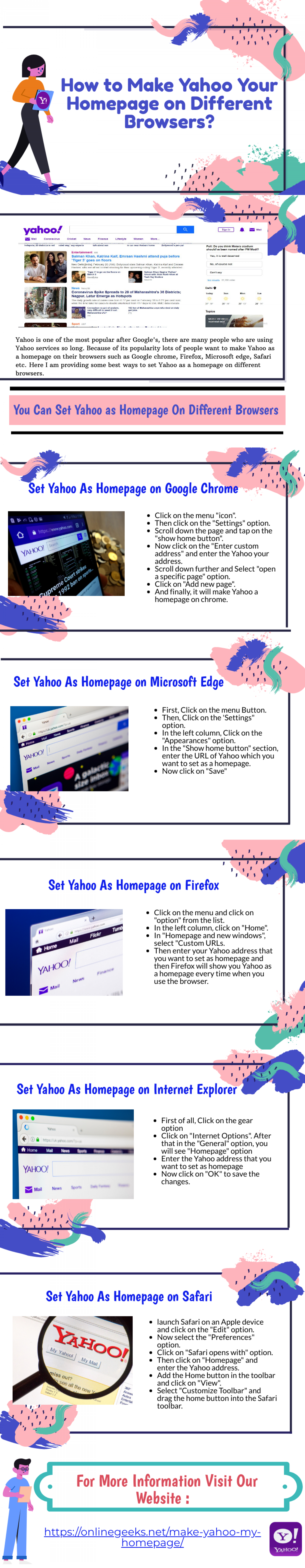 How to Make Yahoo Your Homepage on Multiple Browsers? Infographic