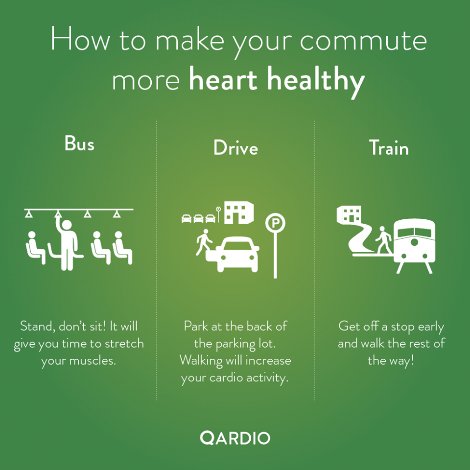 How to make your commute more heart healthy Infographic