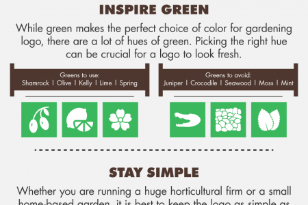 How To Make Your Gardening Logo Look Fresh? Infographic