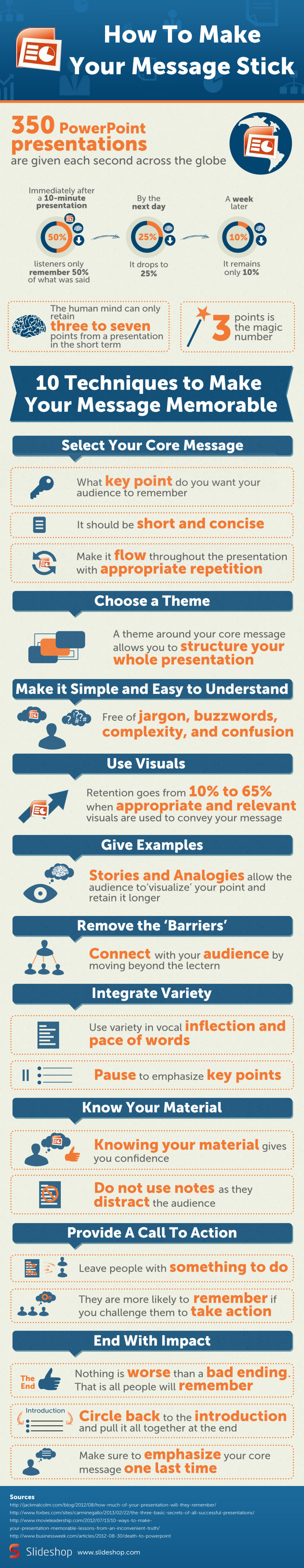 How To Make Your Message Stick Infographic