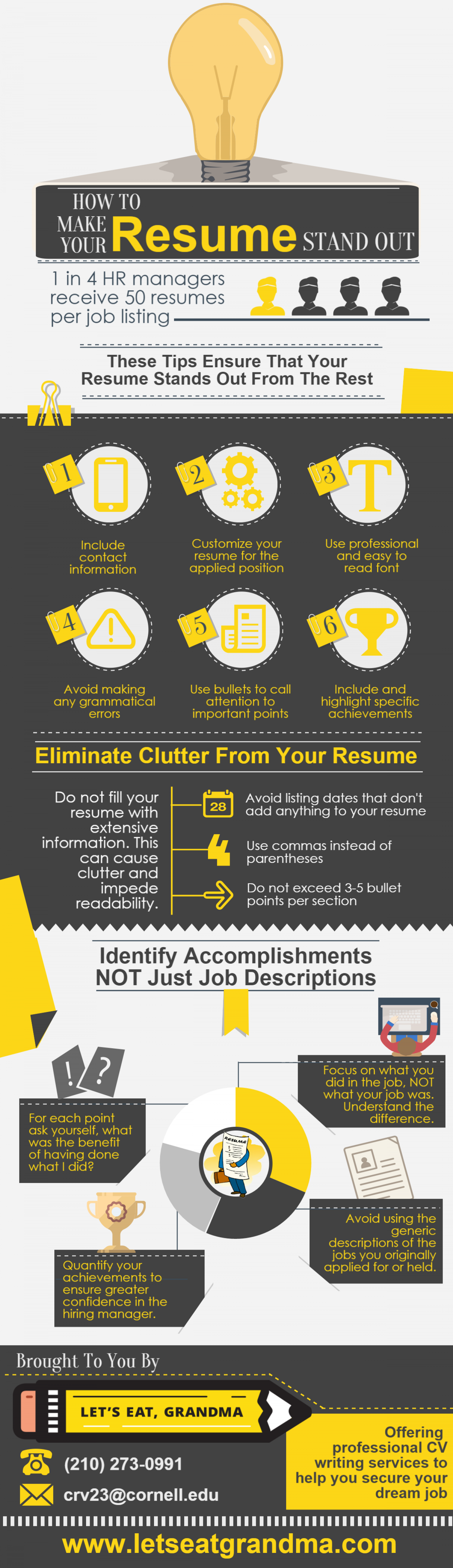 How To Write A Resume That Stands Out | How To Make Your Resume Stand Out Visual Ly