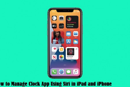 How to Manage Clock App Using Siri in iPad and iPhone Infographic