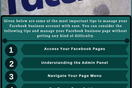 How to manage your Facebook business account? Infographic