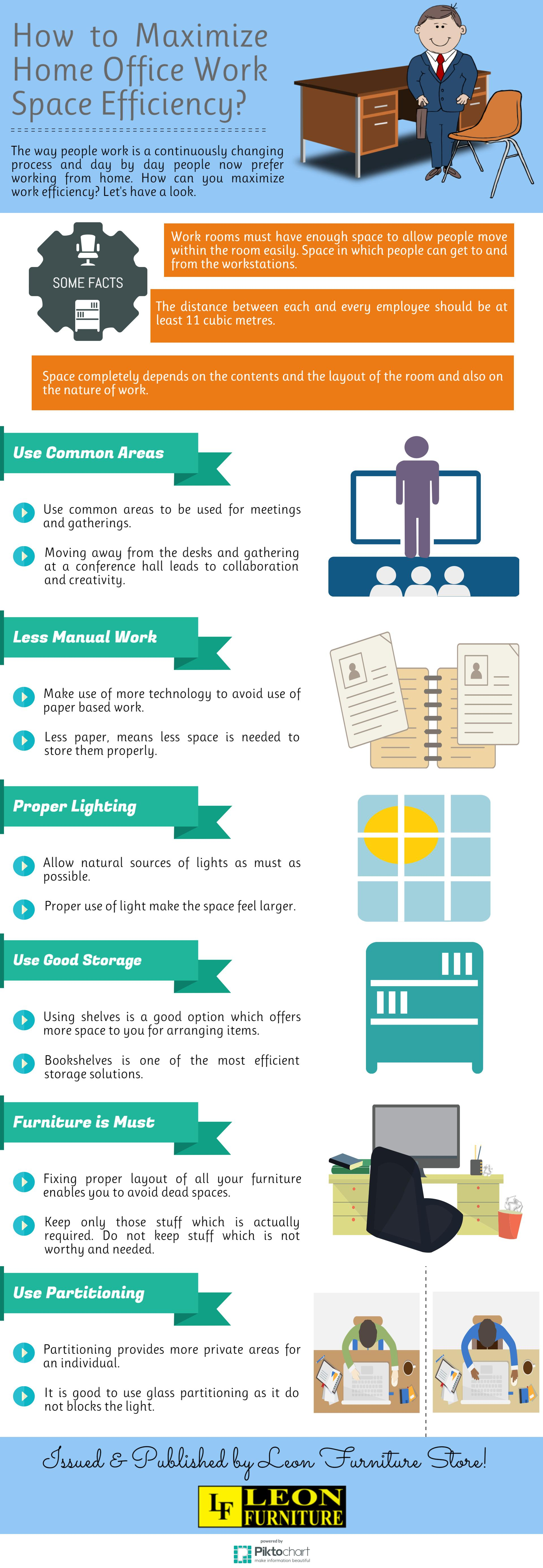 How to Maximize Home Office Work Space Efficiency? | Visual.ly