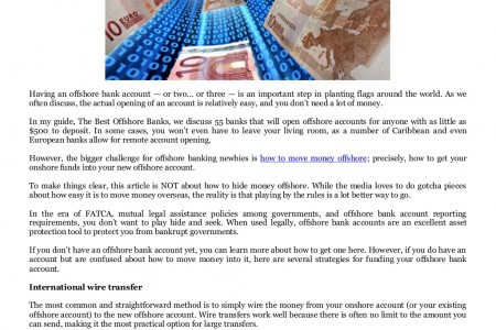 How to move money offshore by Bowman Offshore Bank Transfers Infographic