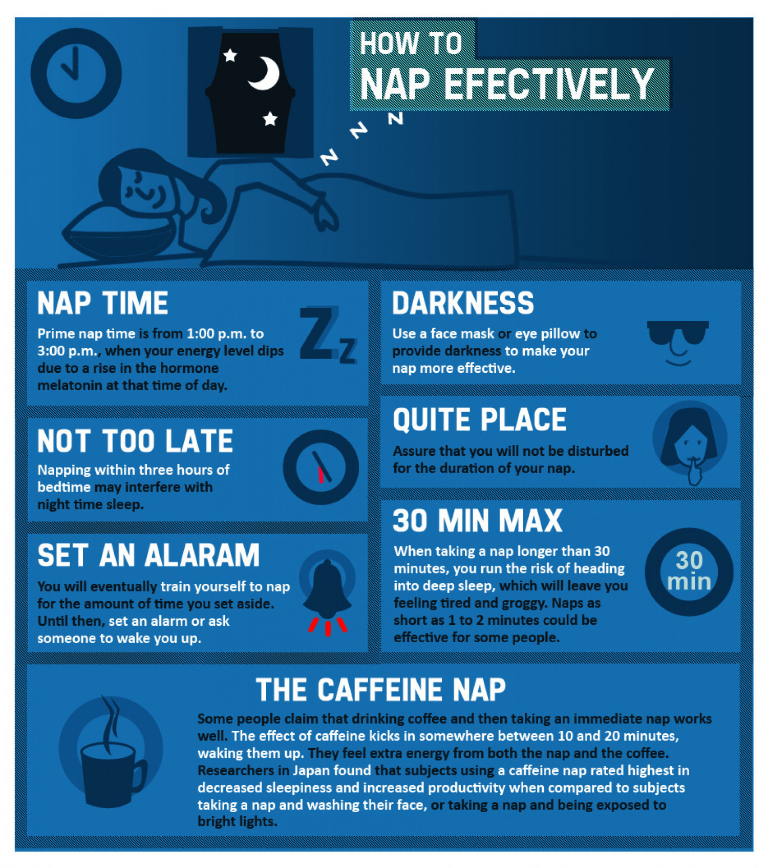 How to Nap Effectively Infographic