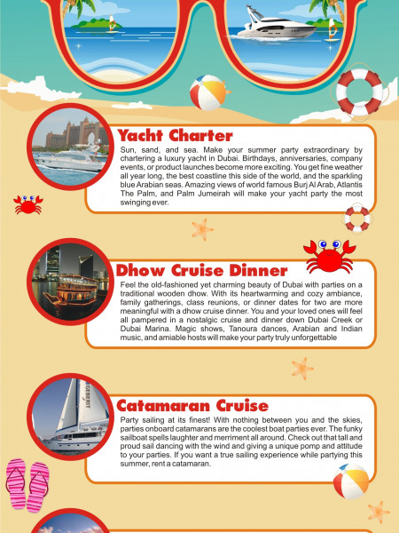How to party in Dubai this summer Infographic