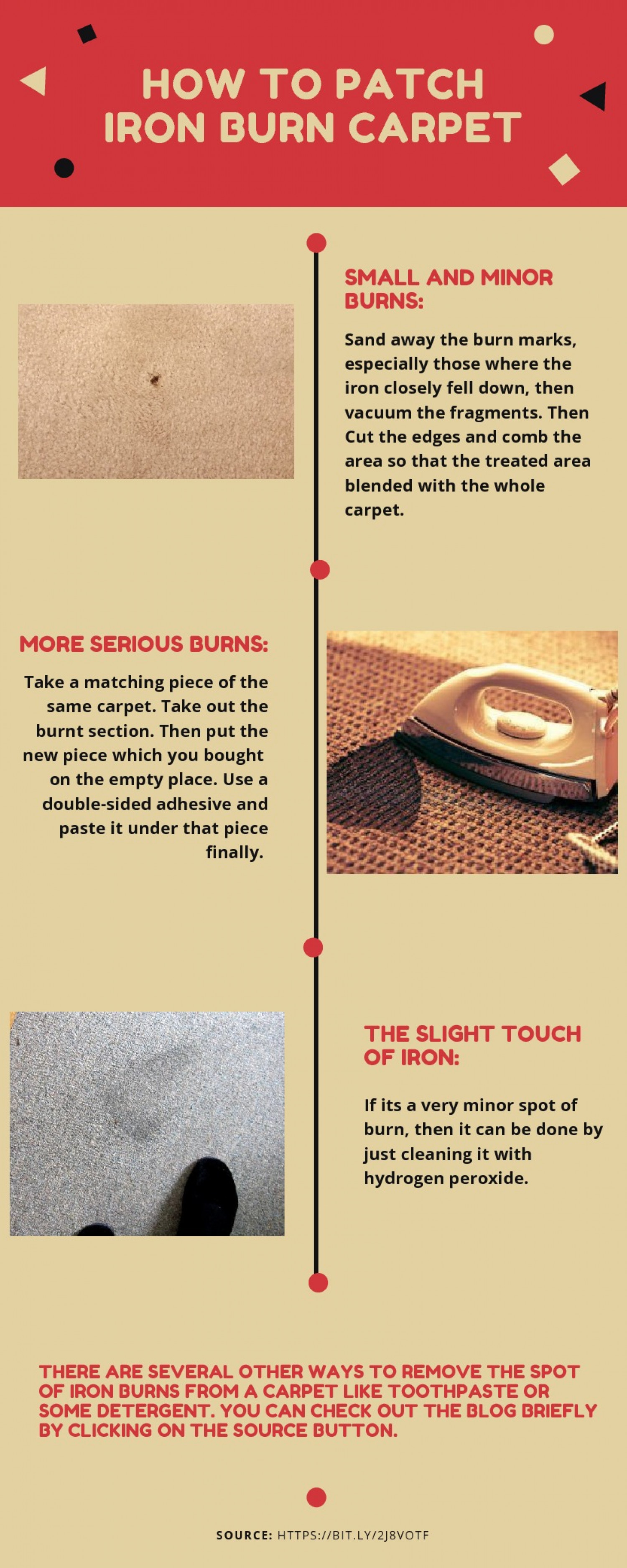How to Patch Iron Burn Carpet Infographic
