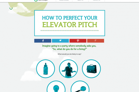 How to Perfect your Elevator Pitch Infographic
