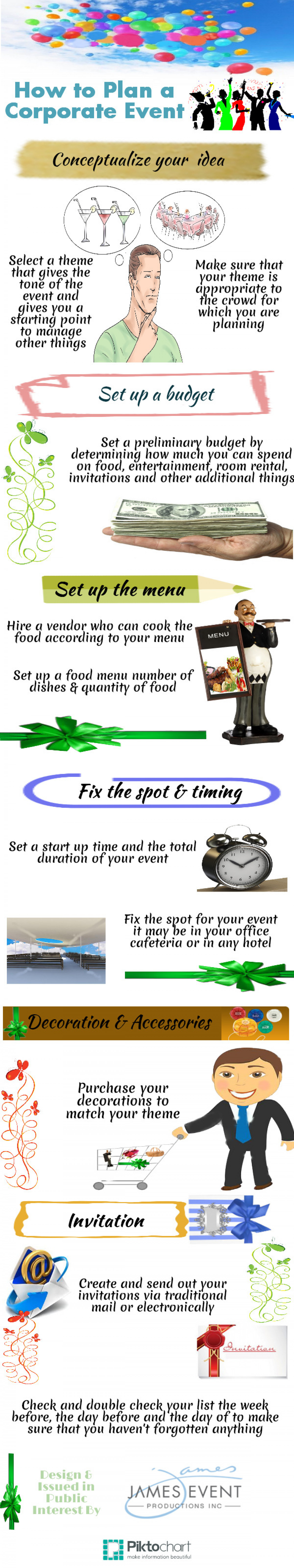 How to Plan a Corporate Event Infographic
