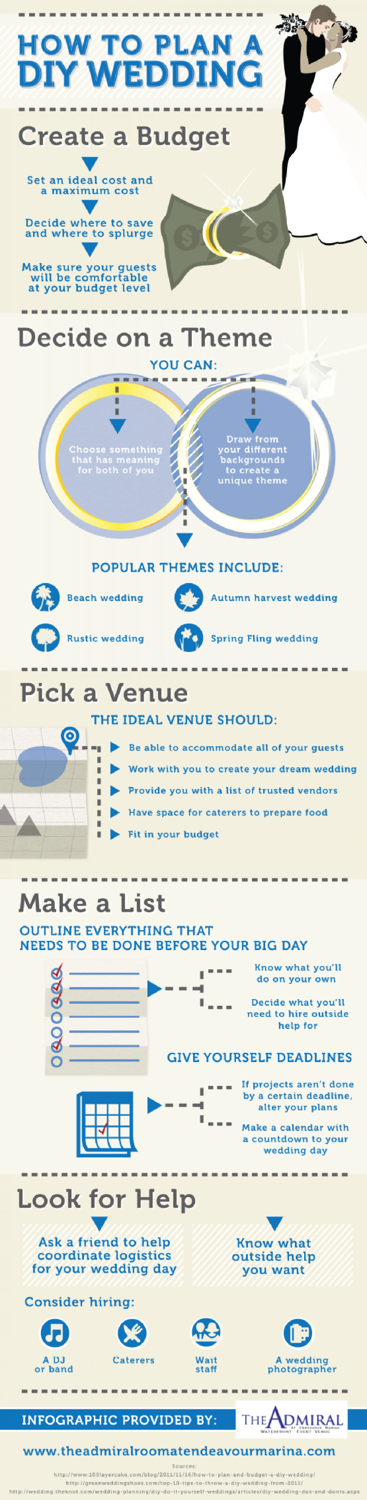 How To Plan a DIY Wedding Infographic