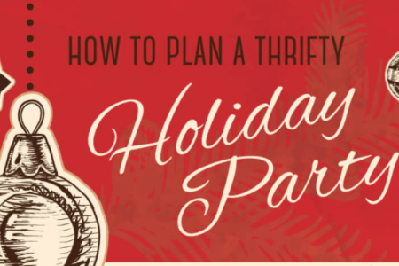 How to Plan a Thrifty Holiday Party Infographic