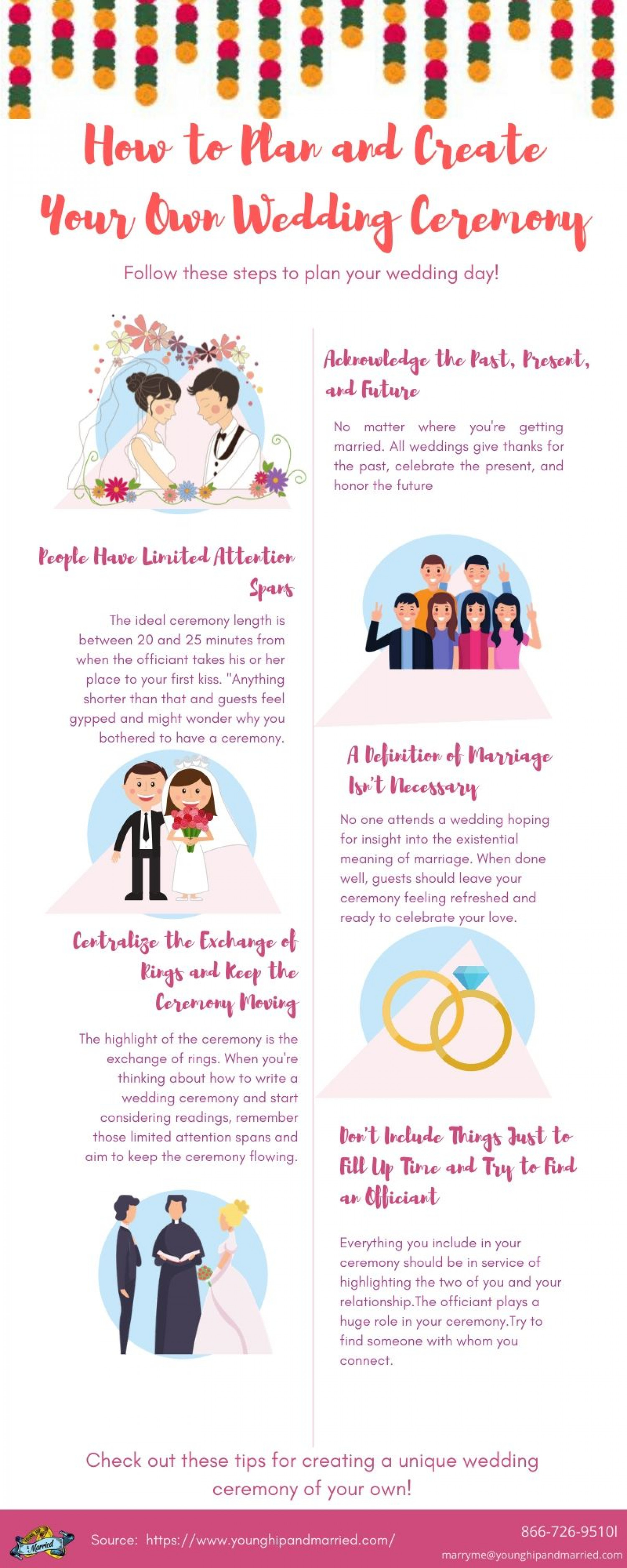 How to Plan and Create Your Own Wedding Ceremony Infographic
